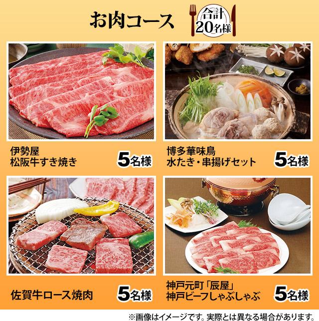 お肉コース(合計20名様)