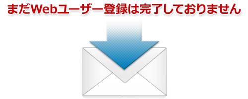 新規Webユーザーの仮登録が完了いたしました。「仮登録完了メール」を送信しました!!