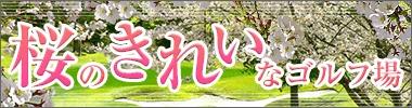 桜がきれいなゴルフ場特集