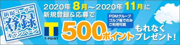 新規ユーザー登録キャンペーン(2020年8月~11月)